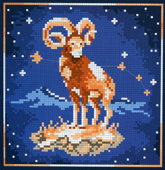 Вышивка овен знак зодиака 71